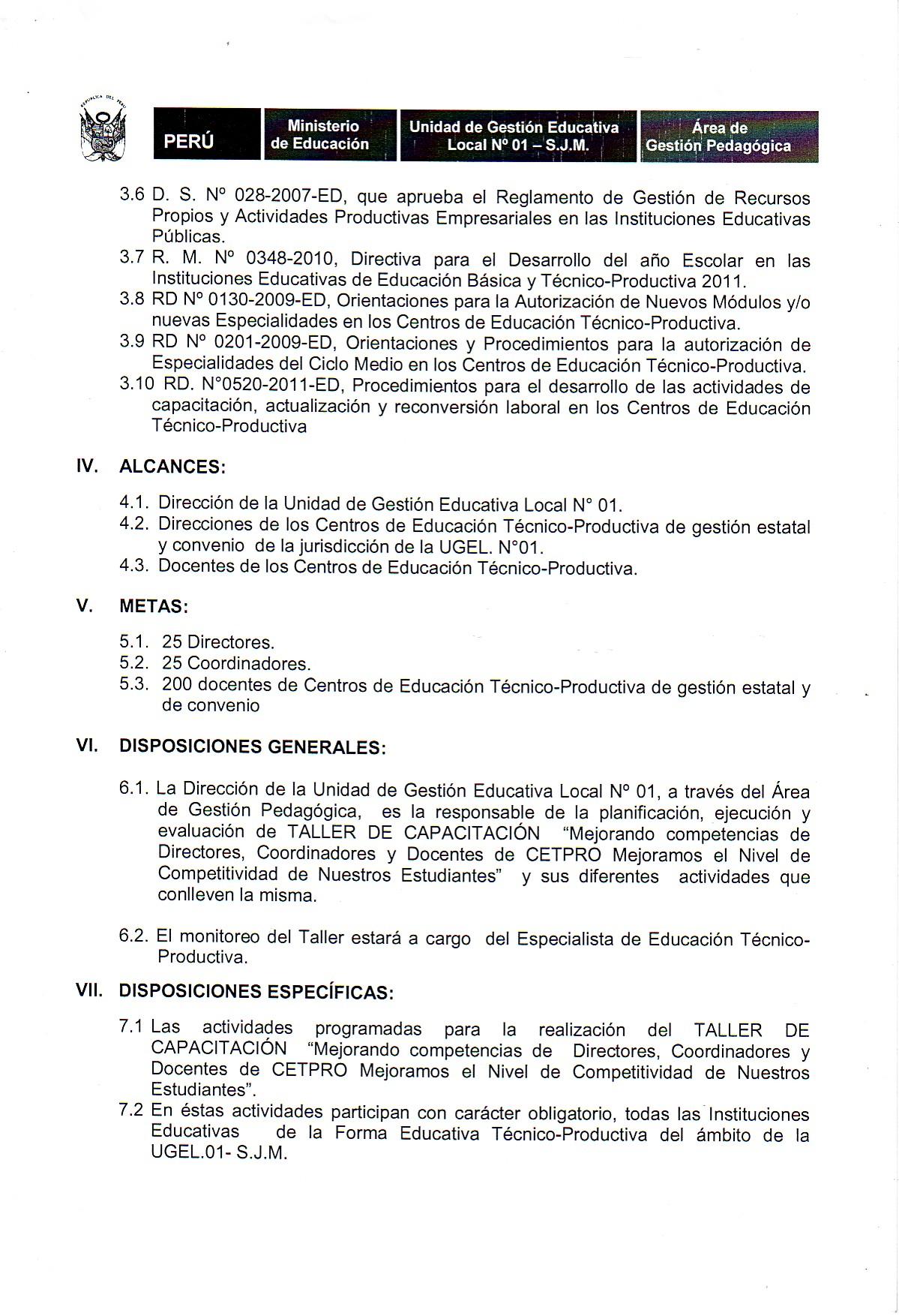 CAPACITACIÓN PARA DIRECTORES, COORDINADORES Y DOCENTES DE CETPROS