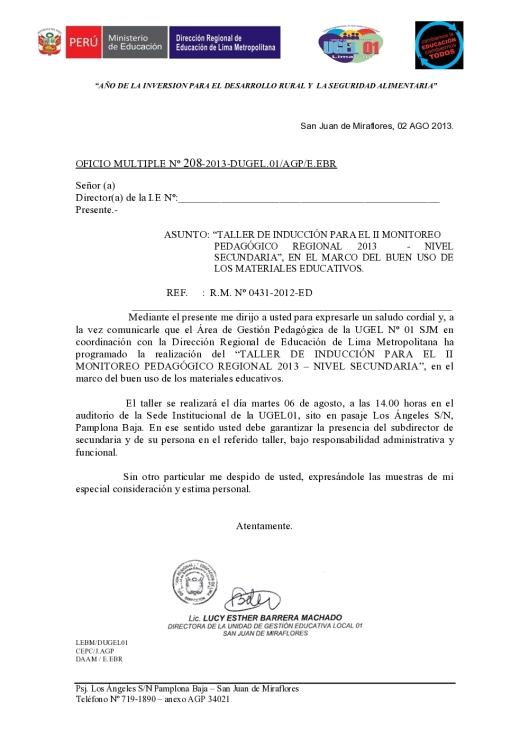 oficio de convocatoria taller induccion _1