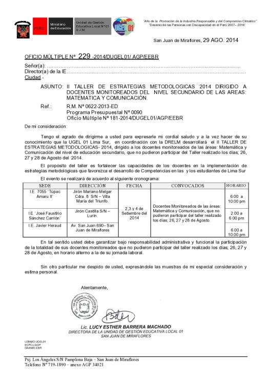 oficio convocatoria taller estrategias metodologicas_1