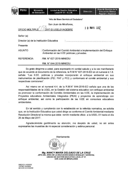 OFICIO N° 058 COMITE AMBIENTAL_001