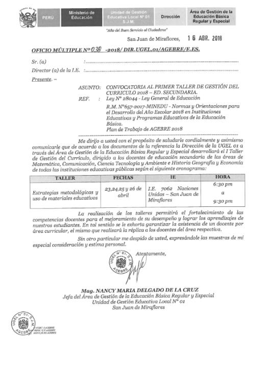 Oficio Multiple N° 038-2018-DUGEL01-AGEBRE_001
